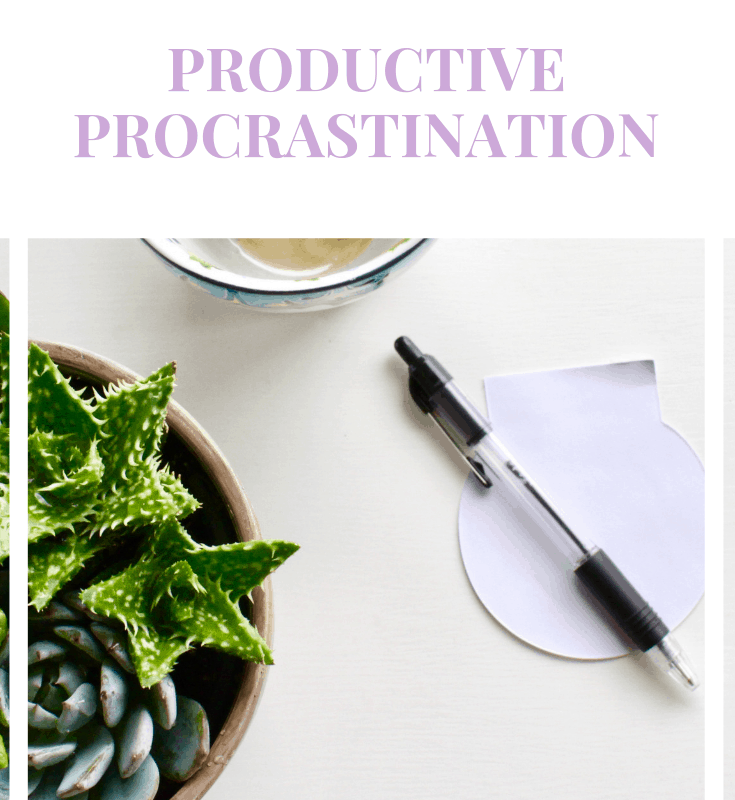 """A pinnable image that says: """"It could be hurting your blog. Productive Procrastination"""""""
