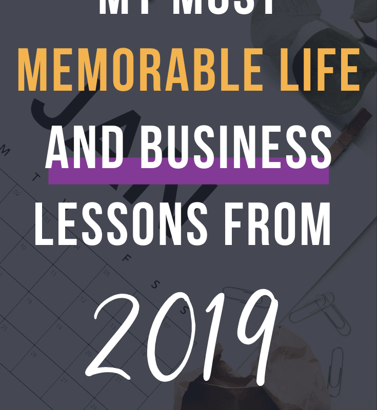 my most memorable life lessons from 2019 pin 1