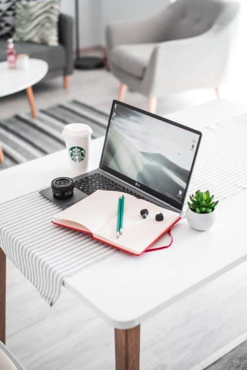 Laptop with Starbucks