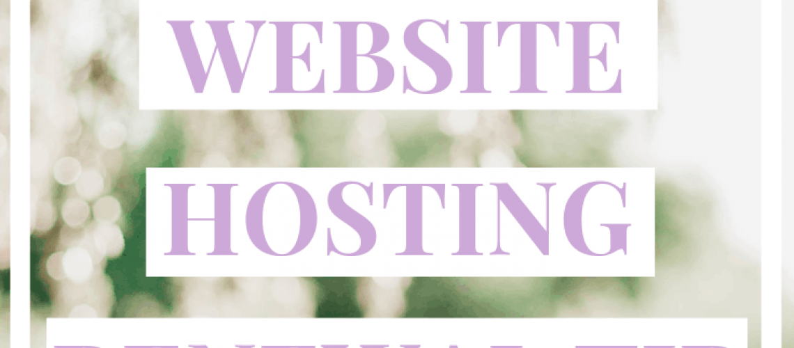 Save Money With This Website Hosting Renewal TIp